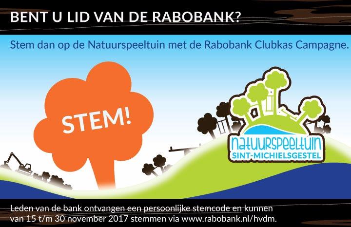 Rabobank Clubkas Campagne: stem Natuurspeeltuin, behoud deze prachtplek!